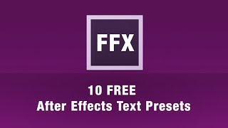 Free After effects Text Animation Presets & AE Projekt