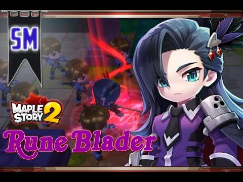 MapleStory 2 - Rune Blader Gameplay!