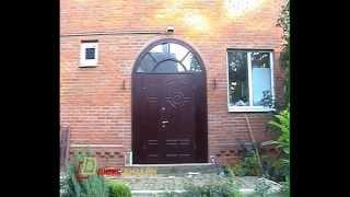 видео входная дверь со стеклом