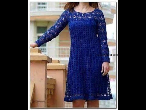 Связать платье большого размера крючком
