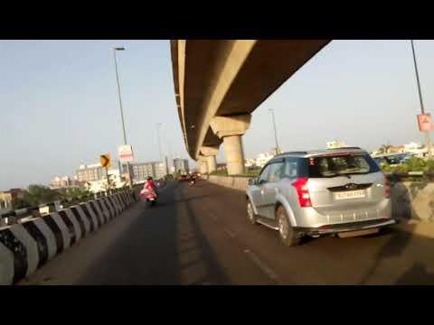 Driving on Jaipur metro elevated road ...