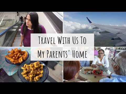 Travel To My Parents' Home Vlog | Going Home Vlog | Food, Parents, Relatives, & Conversations..