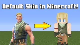 Making A Default Skin From Fortnite in Minecraft! | Speedpaint (Download in Description!)