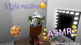 ASMR nightroutine bloxburg Roblox Gamer Girl