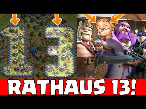 RATHAUS 13 In Clash Of Clans!! ⭐️ Wow!