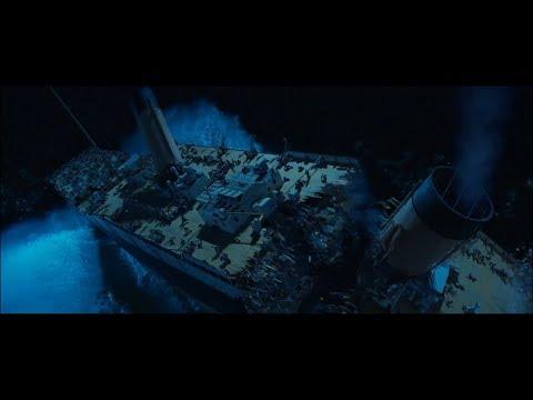 Titanic splits in half