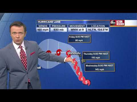 Hurricane Lane headed towards Hawaii | Tracking the Tropics | August 22