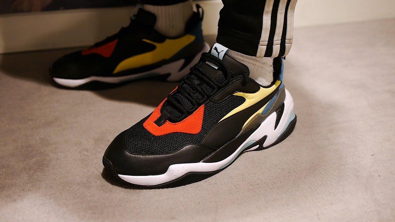 187ca7329b7c3 Puma Thunder Spectra OG Quick Look   On Feet (Black) - YouTube