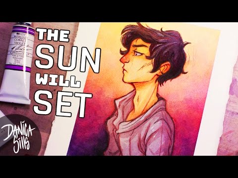 The Sun Will Set ♦ Watercolor Speedpaint ♦ Sketching Tuesday