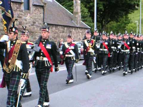 Last parade of KOSB in Edinburgh