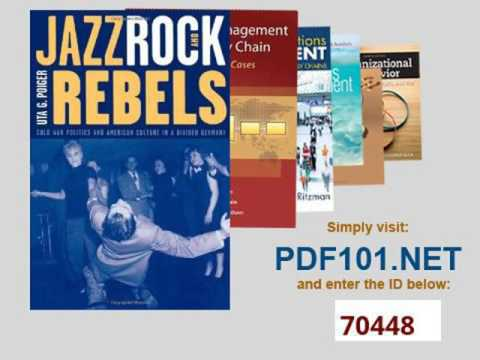 Jazz, Rock, and Rebels Cold War Politics and American Culture in a Divided Germany Studies on the Hi
