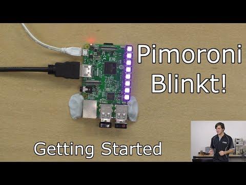 Pimoroni PIM184 Blinkt 8 Addressable RGB LEDs for the Raspberry Pi