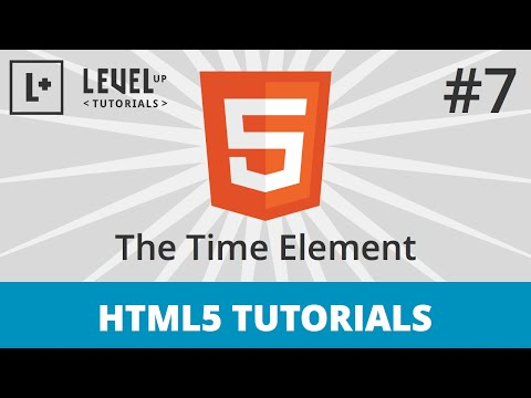 HTML5 Tutorials #7 - The Time Element