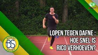 Kickbokser Rico Verhoeven loopt 100m tegen Dafne Schippers!