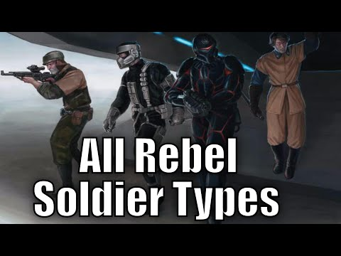 All Rebel Soldier Types and Variants - Star Wars