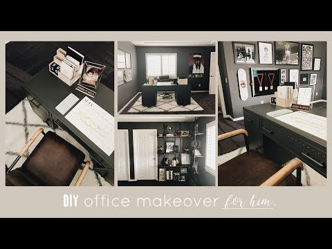 DIY Office Makeover | Masculine + Moody