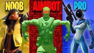 NOOB vs PRO vs AIMBOTTER - Fortnite Battle Royale