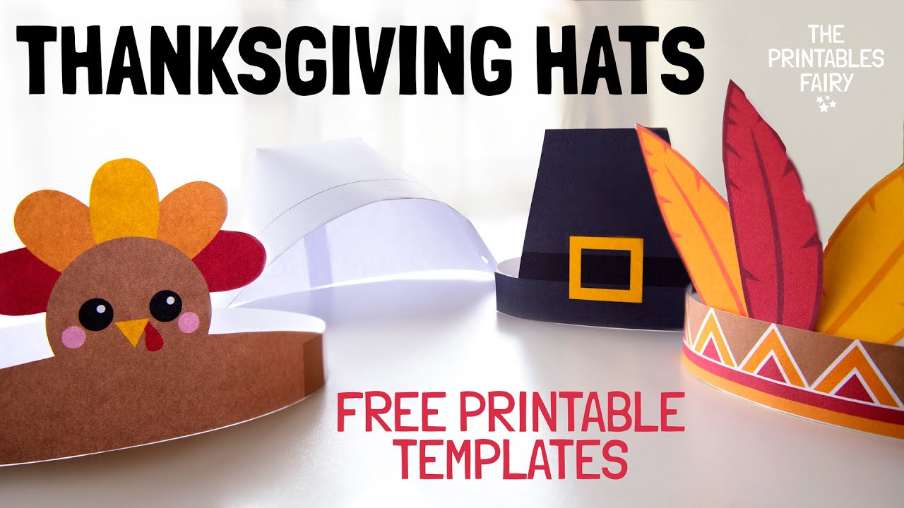 Diy Thanksgiving Hats For Kids The Printables Fairy