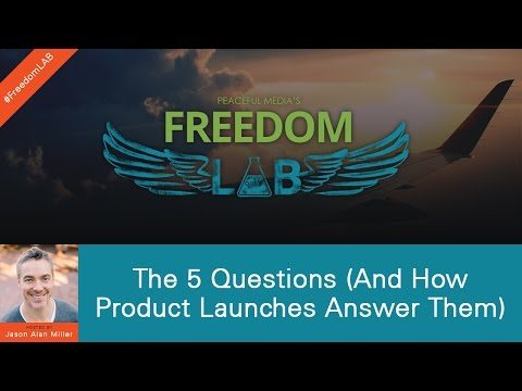 Freedom LAB - S2:E6 - The 5 Questions (And How Product Launches Answer Them)