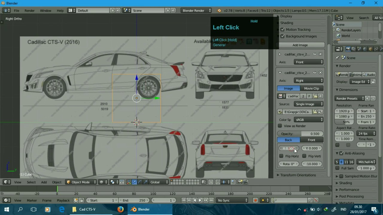 Car Modelling [Blender]: Part 1 - Setting Blueprint (Indonesia ...
