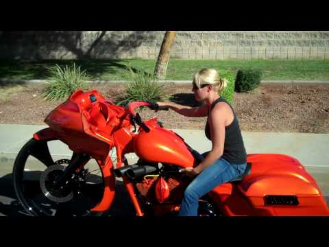 Dirty Bird Concepts First Girl To Ride A 30 Bagger from YouTube · Duration:  50 seconds