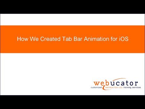 How We Created Tab Bar Animation for iOS - YouTube