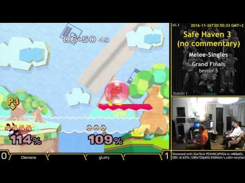 [SH3 2016-11-26] MS-GF gLory (Sheik, Marth) vs Clemens (Fox)