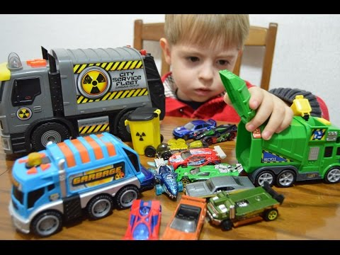 Toy cars Hot weels Garbage from Duty free машинки Hot weels и мусоровоз из Duty free