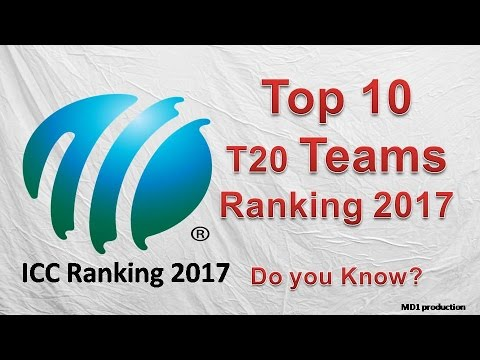 icc ranking 2017 | icc t20 ranking 2017 team | top 10 teams in cricket 2017