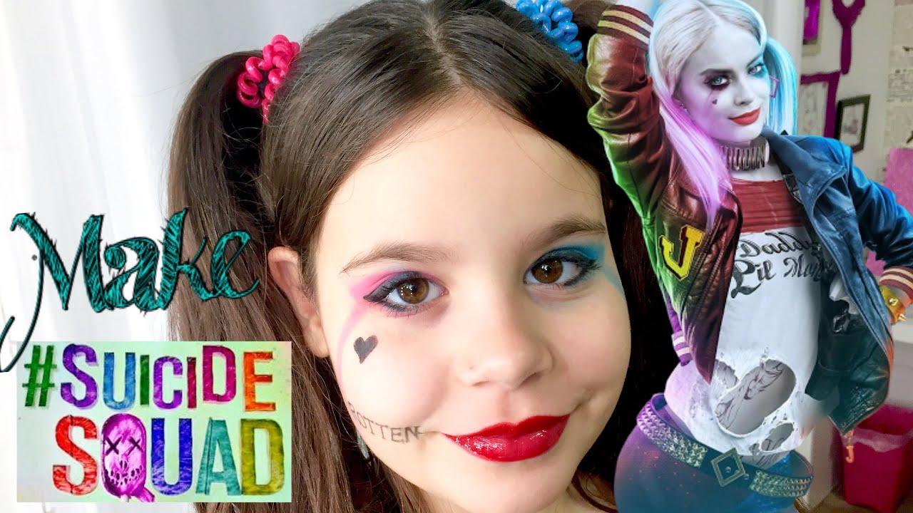 f469dcfac Maquiagem Arlequina Esquadrão Suicida Makeup Harley Quinn Suicide Squad