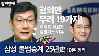 삼성불법승계② 2015 삼성물산 불법합병부터 박근혜 국…