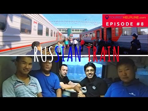 My first train journey in Russia - Enroute Trans Siberian Railway - Omsk to Novosibirsk