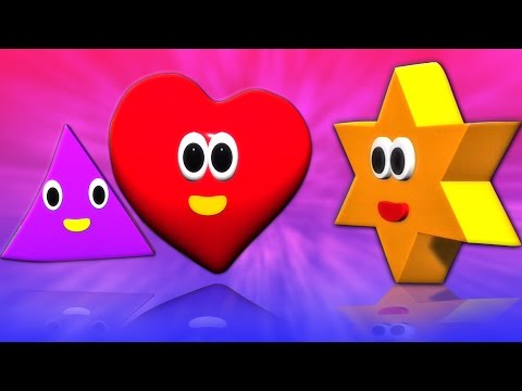 forme canzoni | filastrocche | Capretti rima | Shapes For Babies | Toddlers Songs | Shapes Songs