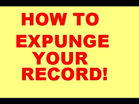 Expunge your record for free! Seal your record.