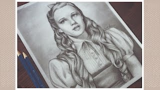 Drawing Judy Garland as Dorothy - The Wizard of Oz | Graphite