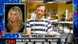 Heidi Klum, Tim Gunn, Nina Garcia on Larry King Live 1/4
