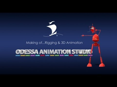 Rigging and 3d animation of the robot, Odessa Animation Studio, 2013