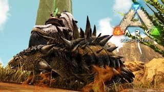ARK: Scorched Earth - TAMING AN ANKYLOSAURUS - Scorched Earth Gameplay [8]
