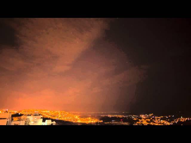 Star time-lapse above Bethlehem