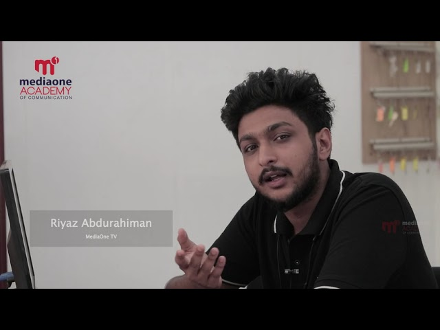 Testimonial Video   Riyaz Abdurahiman   Mediaone Academy