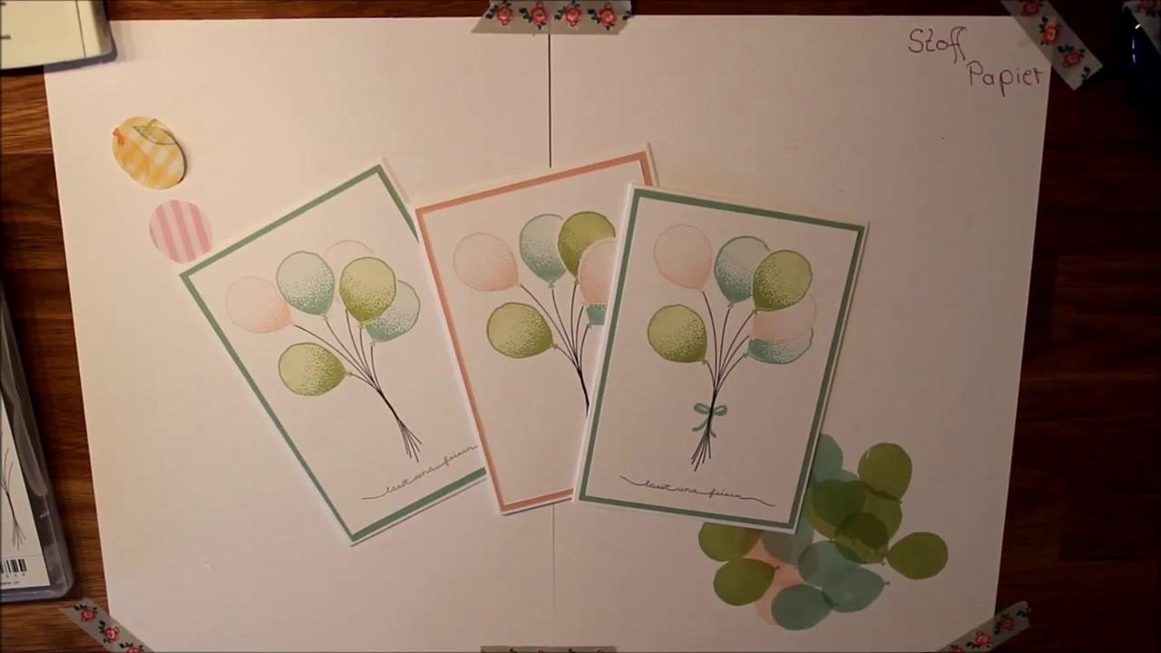Stampin Up Einladungskarte Partyballons