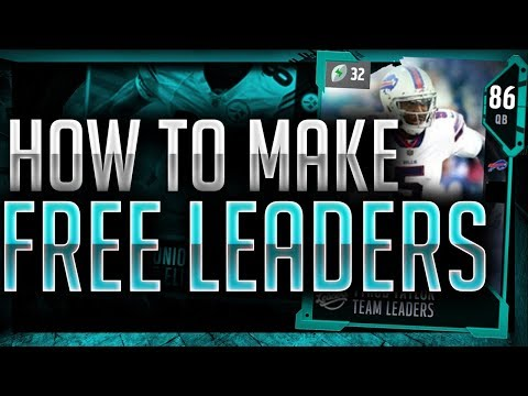 HOW TO MAKE THE 2 FREE TEAM LEADERS IN MADDEN 18