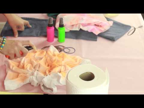 How to Spray on Tie-Dye : Style Creations