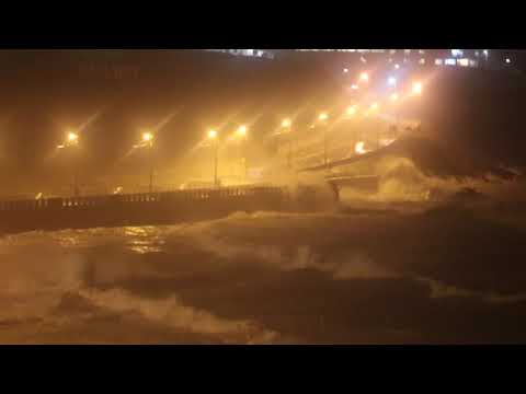 Big Storm (Hurricane Ophelia) in Douglas, Isle of Man 16-10-2017 2