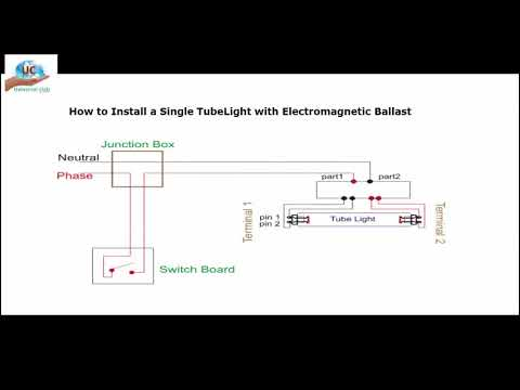 Wiring Diagram for a Single Tube Light Circuit | universal clab ...