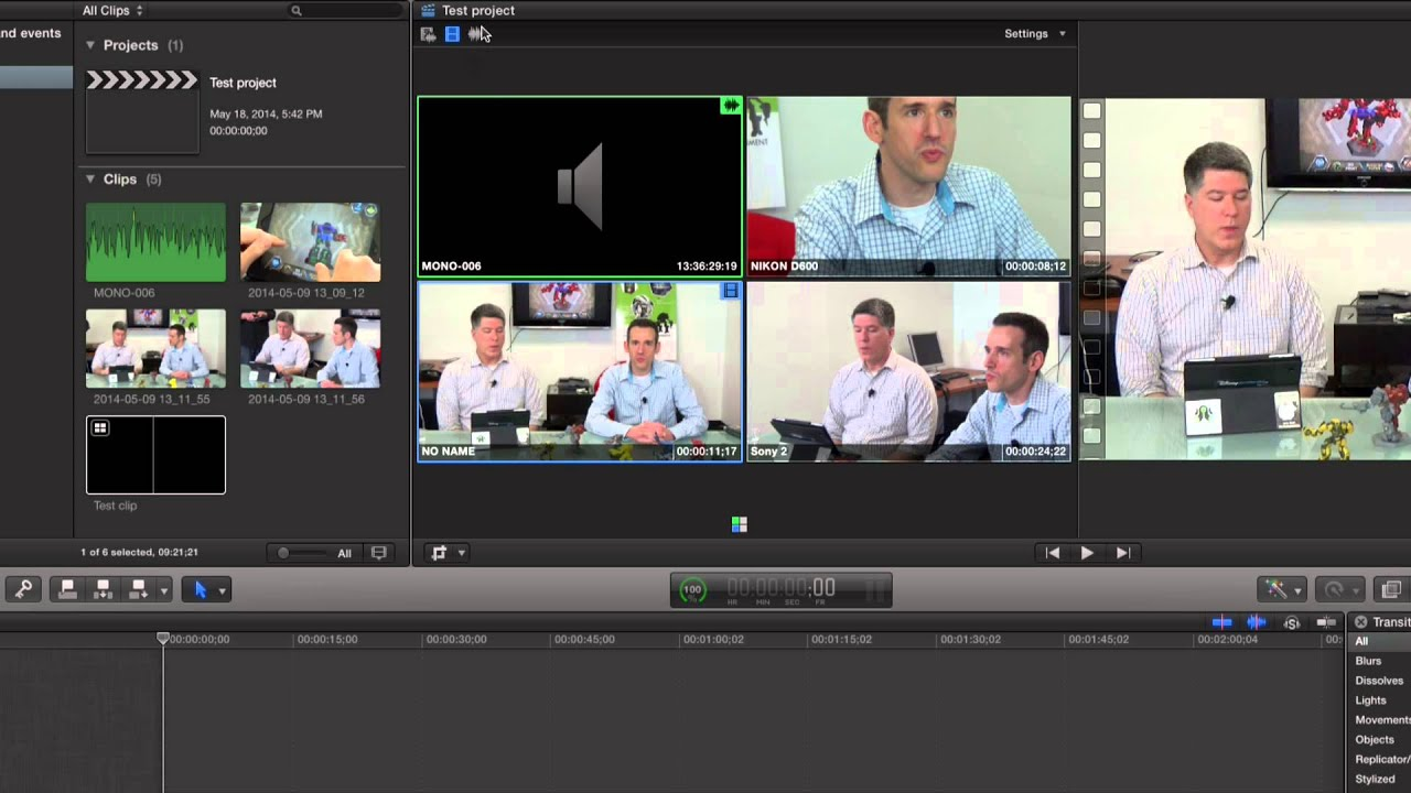 Multicamera editing - Switching without a switcher! In Final Cut Pro X