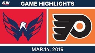 NHL Highlights   Capitals vs. Flyers  – Mar 14, 2019