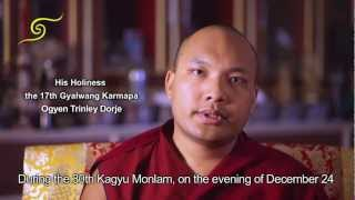 "HH Karmapa talks about the Offering ""The Ocean of Songs and the Chakrasamvara Ganachakra"""
