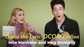 Meg Donnelly and Milo Manheim Sing and Guess the DCOM by Lyric   POPSUGAR Pop Quiz