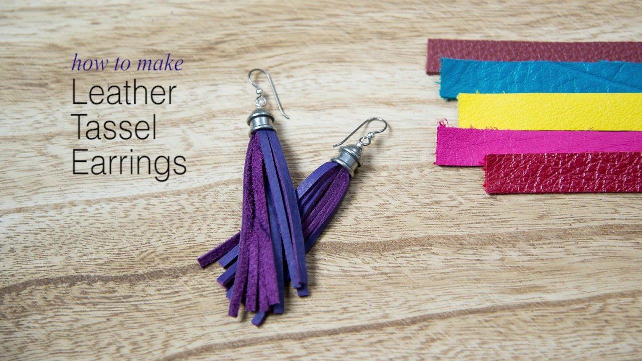 How To Make Leather Tassel Earrings